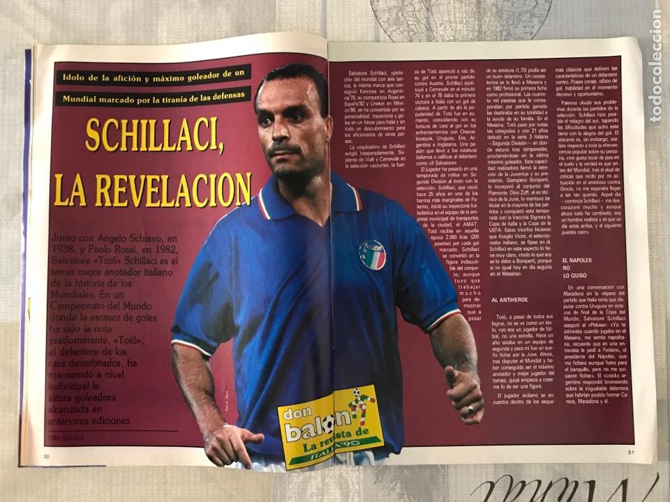 Coleccionismo deportivo: Fútbol don balón 769 - Poster Matthaus - Italia 90 - Zenga - Camerún - Tomas Atlético - Salinas - Foto 3 - 221334525
