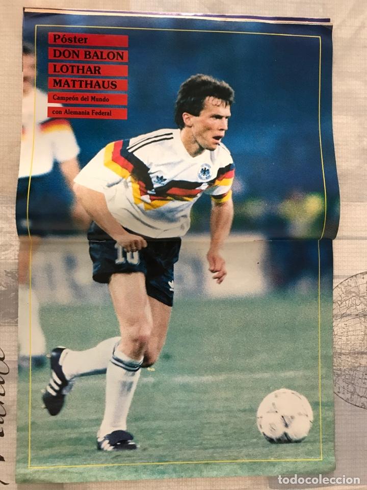 Coleccionismo deportivo: Fútbol don balón 769 - Poster Matthaus - Italia 90 - Zenga - Camerún - Tomas Atlético - Salinas - Foto 4 - 221334525