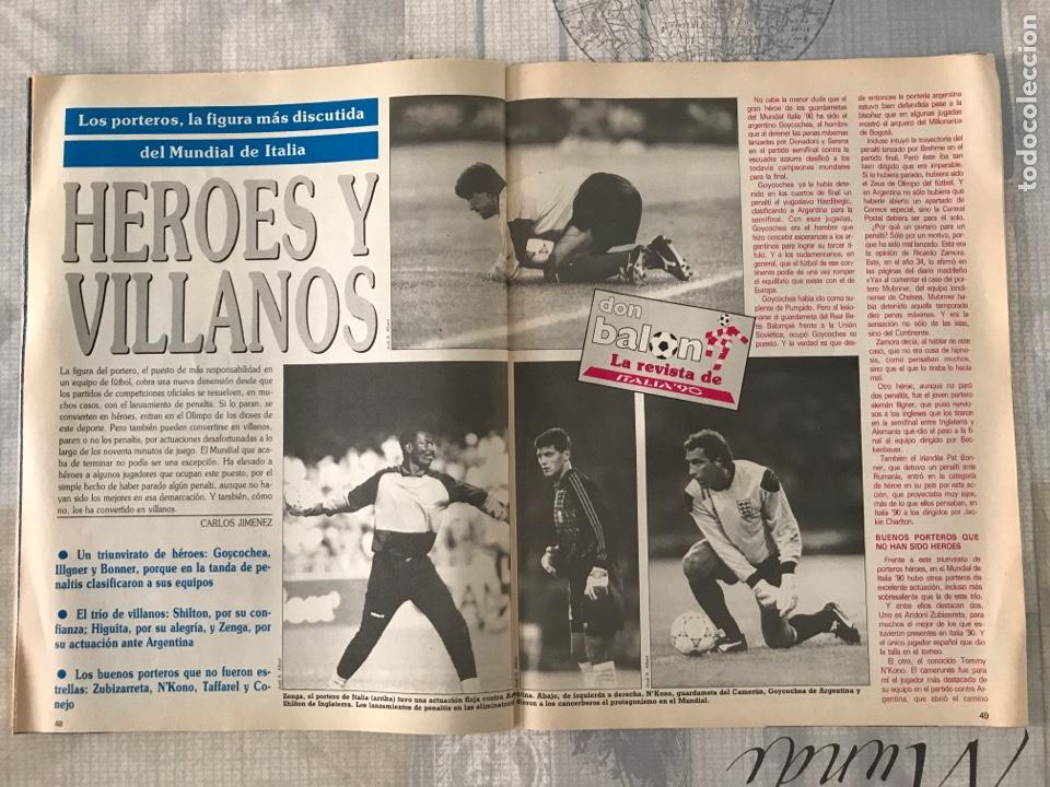 Coleccionismo deportivo: Fútbol don balón 769 - Poster Matthaus - Italia 90 - Zenga - Camerún - Tomas Atlético - Salinas - Foto 8 - 221334525