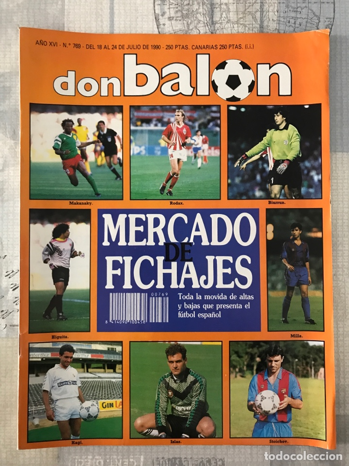 FÚTBOL DON BALÓN 769 - POSTER MATTHAUS - ITALIA 90 - ZENGA - CAMERÚN - TOMAS ATLÉTICO - SALINAS (Coleccionismo Deportivo - Revistas y Periódicos - Don Balón)