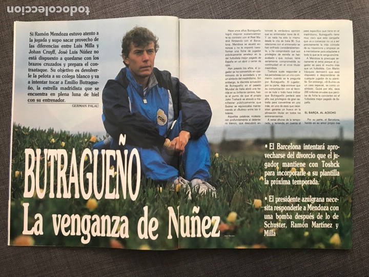 Coleccionismo deportivo: Fútbol don balón 776 - Poster Richardson - Butragueño - Italia Goiko Zamorano Atlético Valladolid - Foto 2 - 221360616