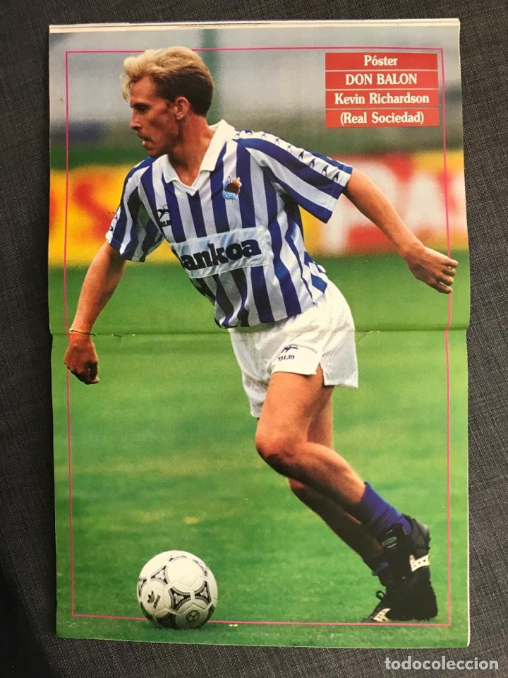 Coleccionismo deportivo: Fútbol don balón 776 - Poster Richardson - Butragueño - Italia Goiko Zamorano Atlético Valladolid - Foto 5 - 221360616