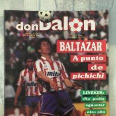 Coleccionismo deportivo: FÚTBOL DON BALÓN 714 - POSTER QUIQUE - ATLÉTICO - MADRID - LINEKER - MALLORCA - OVIEDO BARÇA EUSEBIO. Lote 221389695