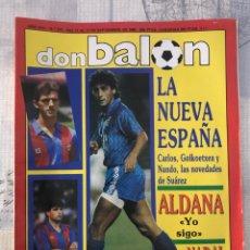 Coleccionismo deportivo: FÚTBOL DON BALÓN 777 - POSTER STOICHKOV - NADAL - MADRID - COPAS EUROPEAS - BRASIL - ESPAÑA - BAKERO. Lote 221390536