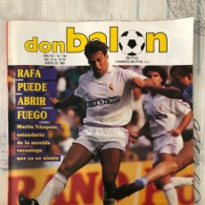 Coleccionismo deportivo: FÚTBOL DON BALÓN 742 - POSTER HIERRO MADRID - CASTELLÓN - MEXICO - ITALIA 90 - BARÇA - MILLA. Lote 221440015