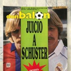 Coleccionismo deportivo: FÚTBOL DON BALÓN 680 - POSTER ELCHE - SCHUSTER - ATHLETIC - ESPAÑA - PASSARELLA - EIBAR - CHILAVERT. Lote 221445501