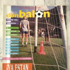 Coleccionismo deportivo: FÚTBOL DON BALÓN 666 - POSTER ZARAGOZA - BARÇA - SPORTING - VALLADOLID - R. SOCIEDAD RIVER - HIGUERA. Lote 221447870