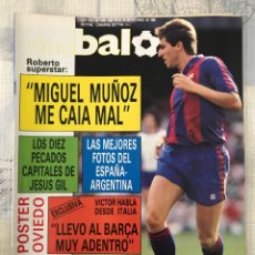 Coleccionismo deportivo: FÚTBOL DON BALÓN 679 - POSTER OVIEDO - BARÇA - H. SANCHEZ - LOGROÑÉS - ESPAÑA - TENDILLO XEREZ. Lote 221451195