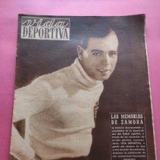 Coleccionismo deportivo: VIDA DEPORTIVA Nº 208 1949 MEMORIAS RICARDO ZAMORA - UE LLEIDA SEGUNDA LIGA 49/50 MALAGA - BADALONA. Lote 221551543