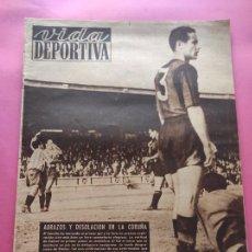 Coleccionismo deportivo: VIDA DEPORTIVA Nº 213 1949 LIGA 49/50 RC DEPORTIVO 2-0 BARÇA - NASTIC-VALENCIA - SABADELL-ORENSANA. Lote 221557090