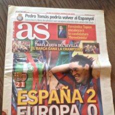 Coleccionismo deportivo: FC BARCELONA. CHAMPIONS 2006. BARÇA-ARSENAL 2-1. DIARIO AS. Lote 221578635