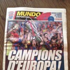 Coleccionismo deportivo: FC BARCELONA. CHAMPIONS 2006. BARÇA-ARSENAL 2-1. MUNDO DEPORTIVO.. Lote 221579517