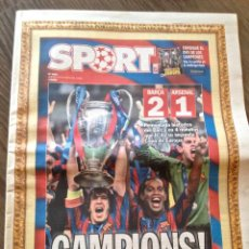 Coleccionismo deportivo: FC BARCELONA. PARIS 2006. BARÇA-ARSENAL 2-1. SPORT.. Lote 221580222