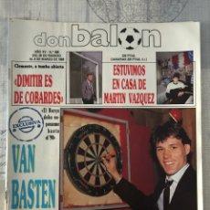 Coleccionismo deportivo: FÚTBOL DON BALÓN 698 - ZARAGOZA - CLEMENTE - COPAS EUROPEAS - VAN BASTEN - HÉRCULES - M. VÁZQUEZ. Lote 221587100