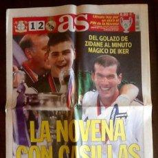 Coleccionismo deportivo: PERIODICO AS. - LA NOVENA CON CASILLAS. 2002 -- ENVIO INCLUIDO.. Lote 221589863