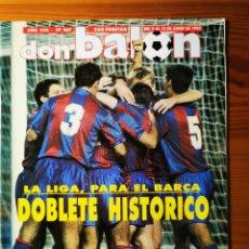 Coleccionismo deportivo: 1992 - DON BALON N° 867 - BARÇA DOBLETE HISTÓRICO - LIGA Y COPA DE EUROPA - FC BARCELONA DREAM TEAM. Lote 257356705