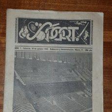 Coleccionismo deportivo: REVISTA SPORT Nº 1 AÑO 1954 VALENCIA CON POSTER CENTRAL. Lote 221661585