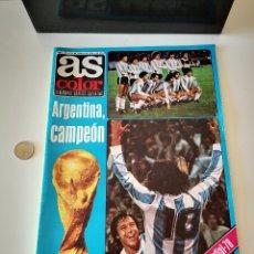 Coleccionismo deportivo: REVISTA AS COLOR ARGENTINA CAMPEON DEL MUNDIAL DEL 78 1978 EXTRA MUNDIAL BUEN ESTADO VER FOTOS. Lote 221694782