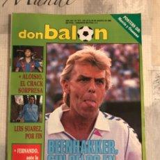 Coleccionismo deportivo: FÚTBOL DON BALÓN 671 - PÓSTERS MURCIA/OSASUNA - BARÇA CRUYFF - MADRID - ARKONADA - ZARAGOZA SEVILLA. Lote 221700622
