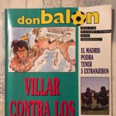 Coleccionismo deportivo: FÚTBOL DON BALÓN 745 - POSTER M. VÁZQUEZ - BARÇA - RUMANIA - ITALIA 90 JORGINHO - ATLÉTICO TENERIFE. Lote 221710255