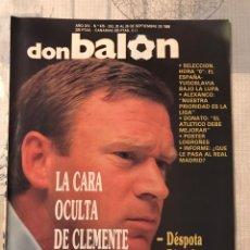 Coleccionismo deportivo: FÚTBOL DON BALÓN 675 - POSTER LOGROÑÉS - MADRID - CLEMENTE - ATLÉTICO - PEÑAROL - SESTAO - ESPAÑA. Lote 221711710