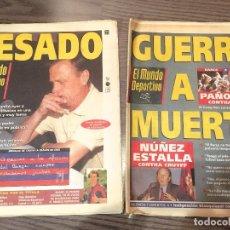 Coleccionismo deportivo: CRUYFF. MUNDO DEPORTIVO. 1996. 2 NÚMEROS, CESE CRUYFF.. Lote 221715507