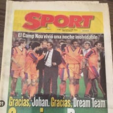 Coleccionismo deportivo: CRUYFF. DIARIO SPORT. 1999. PARTIDO HOMENAJE CRUYFF-DREAM TEAM. CON POSTER, VER FOTOS.. Lote 221715833