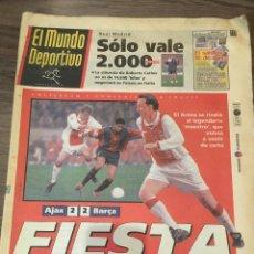 Coleccionismo deportivo: CRUYFF. MUNDO DEPORTIVOT. 1999. PARTIDO HOMENAJE AJAX, VER FOTOS.. Lote 221716090