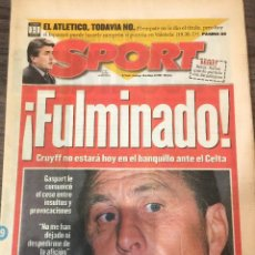 Collectionnisme sportif: CRUYFF. DIARIO SPORT. 1996. CESE JOHAN CRUYFF.. Lote 221716216