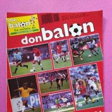 Collectionnisme sportif: REVISTA DON BALON Nº 765 DEBUT SELECCION ESPAÑOLA MUNDIAL ITALIA 90 - ESPAÑA WORLD CUP 1990. Lote 221742065