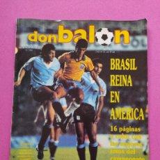 Collectionnisme sportif: REVISTA DON BALON Nº 719 ESPECIAL RESUMEN COPA AMERICA 1989 POSTER BRASIL CAMPEON 89. Lote 221745951