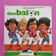 Collectionnisme sportif: REVISTA DON BALON Nº 672 POSTER PLANTILLA ATLETICO DE MADRID 88/89 LIGA 1988 1989 ATLETI. Lote 221754200