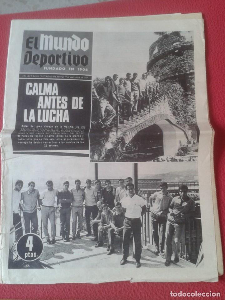 PERIÓDICO NEWSPAPER EL MUNDO DEPORTIVO Nº 13.681 17 SEPT. 1967 DERBI FÚTBOL CLUB BARCELONA ESPAÑOL.. (Coleccionismo Deportivo - Revistas y Periódicos - Mundo Deportivo)