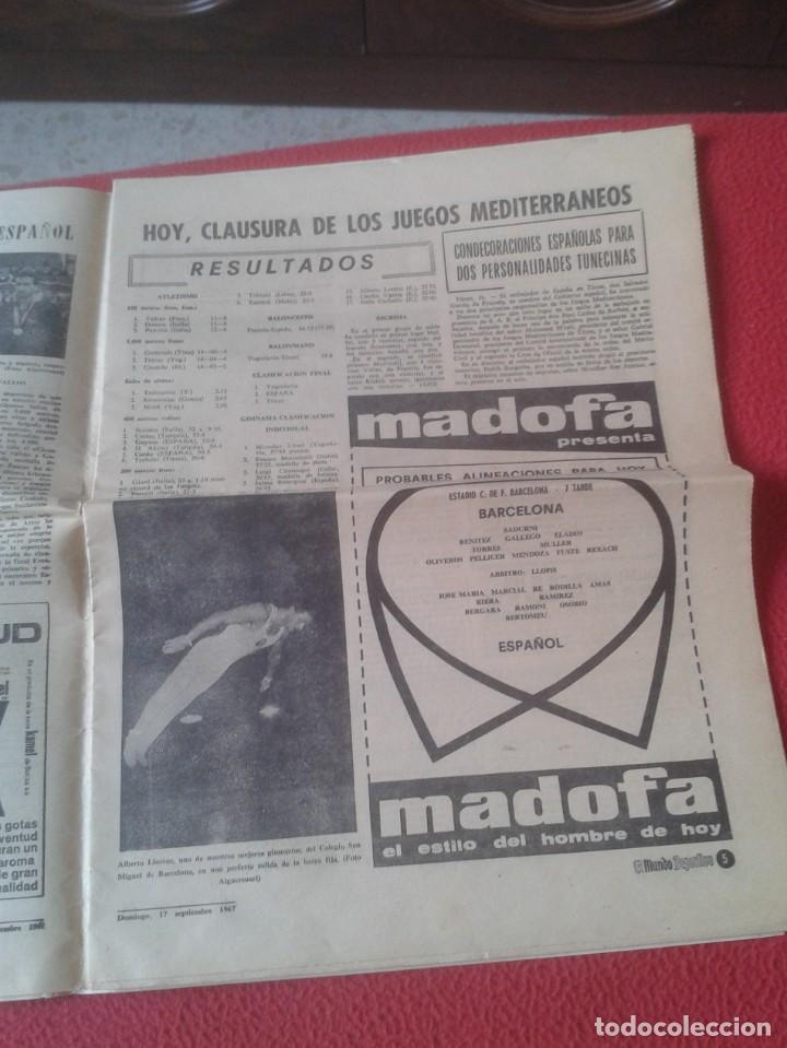 Coleccionismo deportivo: PERIÓDICO NEWSPAPER EL MUNDO DEPORTIVO Nº 13.681 17 SEPT. 1967 DERBI FÚTBOL CLUB BARCELONA ESPAÑOL.. - Foto 5 - 221776996