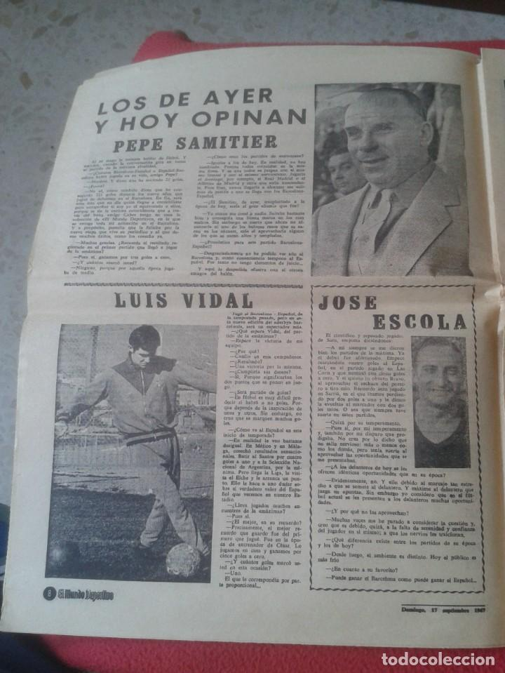 Coleccionismo deportivo: PERIÓDICO NEWSPAPER EL MUNDO DEPORTIVO Nº 13.681 17 SEPT. 1967 DERBI FÚTBOL CLUB BARCELONA ESPAÑOL.. - Foto 7 - 221776996