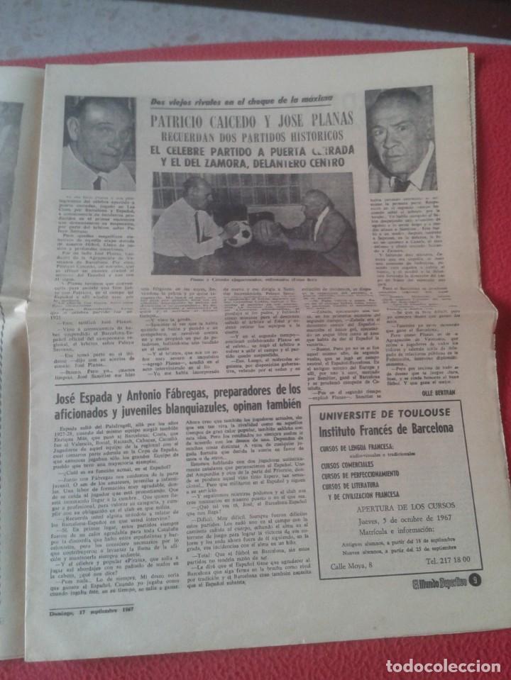 Coleccionismo deportivo: PERIÓDICO NEWSPAPER EL MUNDO DEPORTIVO Nº 13.681 17 SEPT. 1967 DERBI FÚTBOL CLUB BARCELONA ESPAÑOL.. - Foto 8 - 221776996