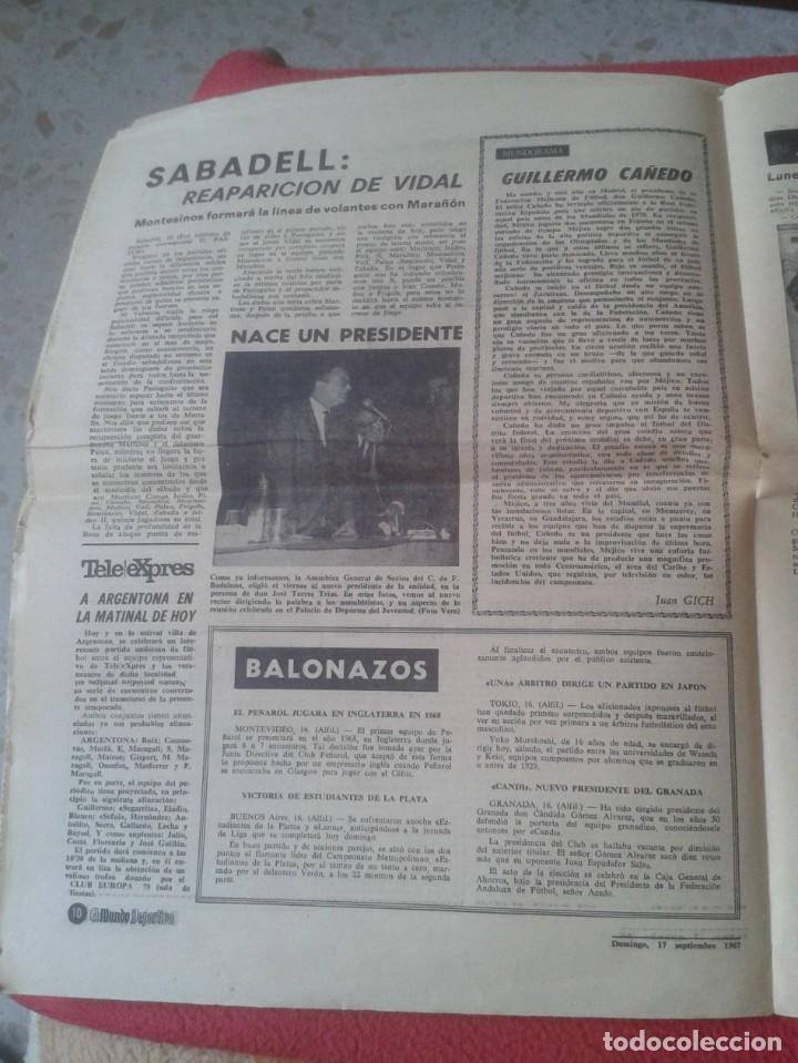 Coleccionismo deportivo: PERIÓDICO NEWSPAPER EL MUNDO DEPORTIVO Nº 13.681 17 SEPT. 1967 DERBI FÚTBOL CLUB BARCELONA ESPAÑOL.. - Foto 9 - 221776996