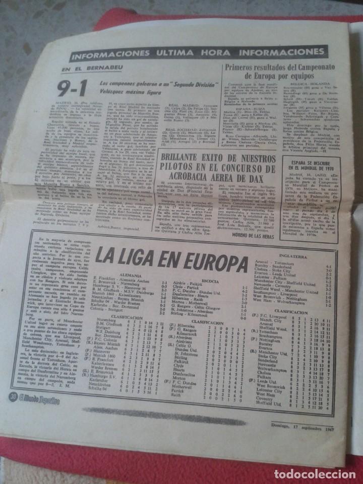 Coleccionismo deportivo: PERIÓDICO NEWSPAPER EL MUNDO DEPORTIVO Nº 13.681 17 SEPT. 1967 DERBI FÚTBOL CLUB BARCELONA ESPAÑOL.. - Foto 14 - 221776996