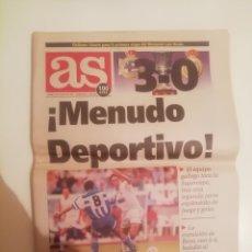 Coleccionismo deportivo: DEPORTIVO 3 REAL MADRID 0. SUPERCOPA 1995. IDA.. Lote 221839370
