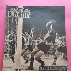 Collectionnisme sportif: VIDA DEPORTIVA Nº 223 1949 LIGA 49/50 BADALONA 8-2 BARAKALDO TORRELAVEGA-LLEIDA - BARÇA-ATHELTIC. Lote 221859591
