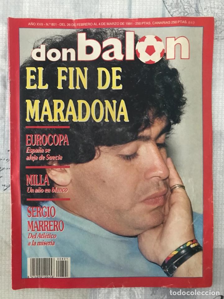FÚTBOL DON BALÓN 801 - MARADONA - ESPAÑA - CASTELLÓN - MALLORCA - MILLA - LOGROÑÉS (Coleccionismo Deportivo - Revistas y Periódicos - Don Balón)