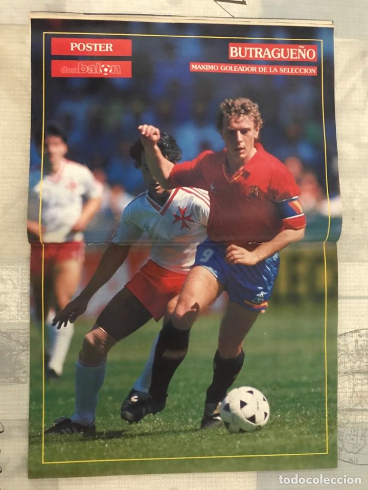 Coleccionismo deportivo: Fútbol don balón 799 - Poster Butragueño - Abel - España - Betis - Barça - Castellón - Tarrés - Foto 5 - 221904617