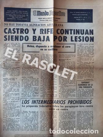 ANTIGÜA PAGINA 25 Y 26 - DEL MUNDO DEPORTIVO - DE 4 /10/1969 - CASTRO Y RIFE CONTINUAN SIENDO ... (Coleccionismo Deportivo - Revistas y Periódicos - Mundo Deportivo)