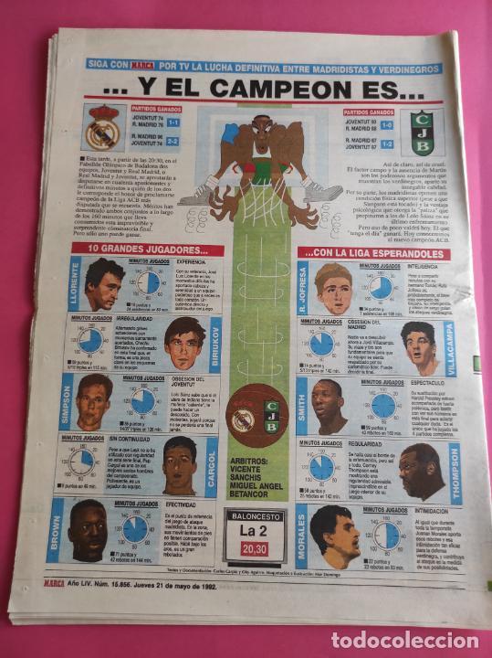 Coleccionismo deportivo: DIARIO MARCA BARÇA CAMPEON COPA DE EUROPA 1991/1992 - FC BARCELONA 91/92 - WEMBLEY CHAMPIONS KOEMAN - Foto 2 - 221987223