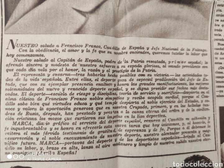 Coleccionismo deportivo: MARCA AÑO 1 NÚMERO 1,NOVIEMBRE 1.942, RARO Y DIFICILÍSIMO. - Foto 6 - 222012546