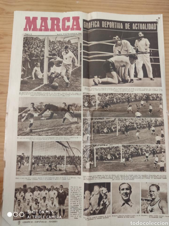 Coleccionismo deportivo: MARCA AÑO 1 NÚMERO 1,NOVIEMBRE 1.942, RARO Y DIFICILÍSIMO. - Foto 7 - 222012546