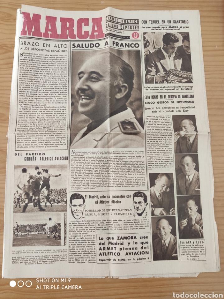 MARCA AÑO 1 NÚMERO 1,NOVIEMBRE 1.942, RARO Y DIFICILÍSIMO. (Coleccionismo Deportivo - Revistas y Periódicos - Marca)