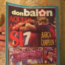 Colecionismo desportivo: DON BALÓN 812 MAYO 1991 BARCELONA CAMPEÓN LA PRIMERA LIGA DE CRUYFF. Lote 222250705
