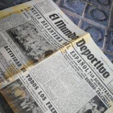 Coleccionismo deportivo: EL MUNDO DEPORTIVO- NUEVA DELANTERA DEL ESPAÑOL, 1949.. Lote 222318143