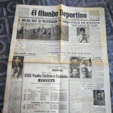 Coleccionismo deportivo: EL MUNDO DEPORTIVO- EL MÁLAGA HACE PRESENTACIÓN EN SARRIÁ+ XXIX VUELTA CICLISTA CATALUÑA, 1949.. Lote 222322115